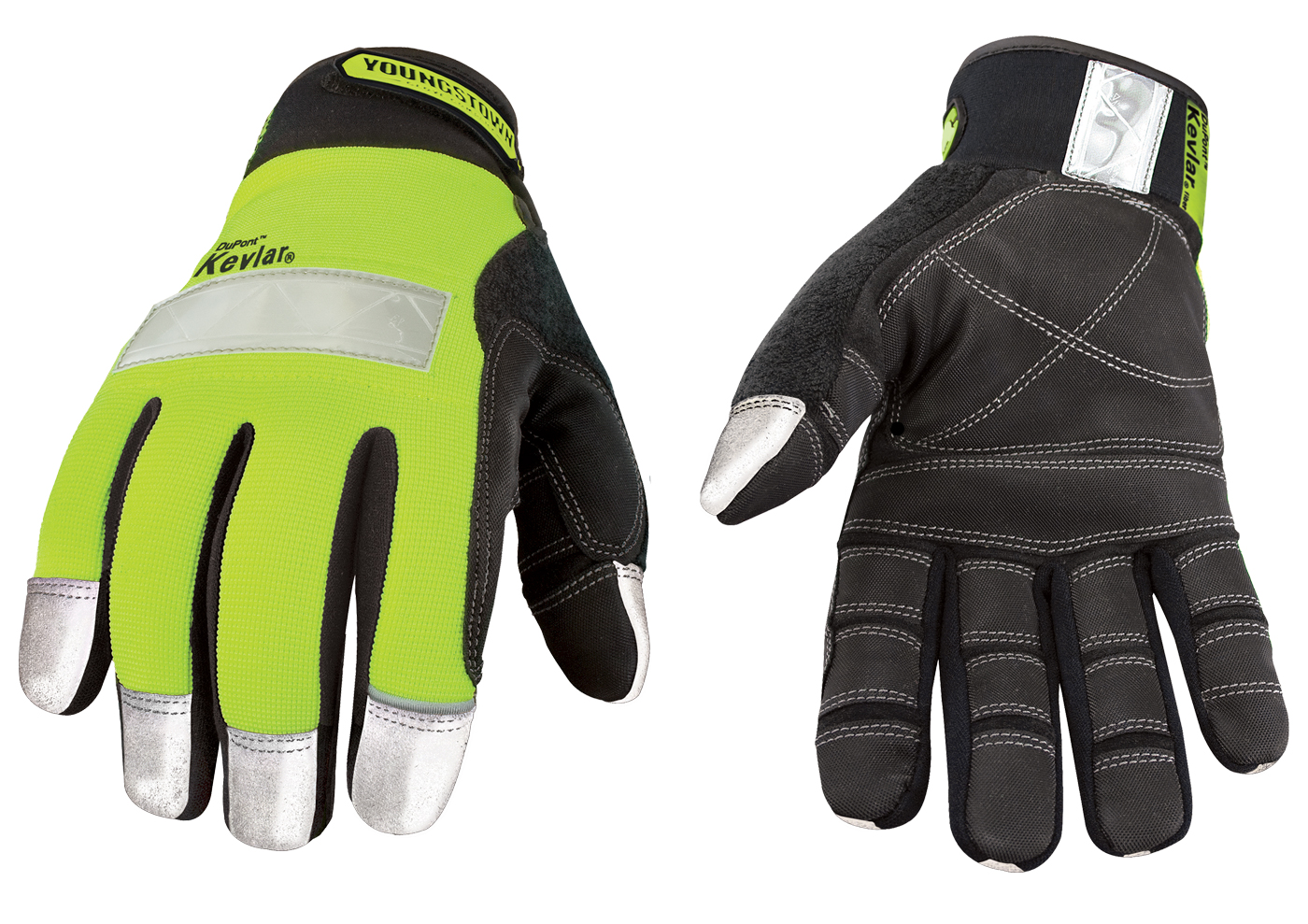 Youngstown Glove Safety Lime Glove Lined with Kevlar Large