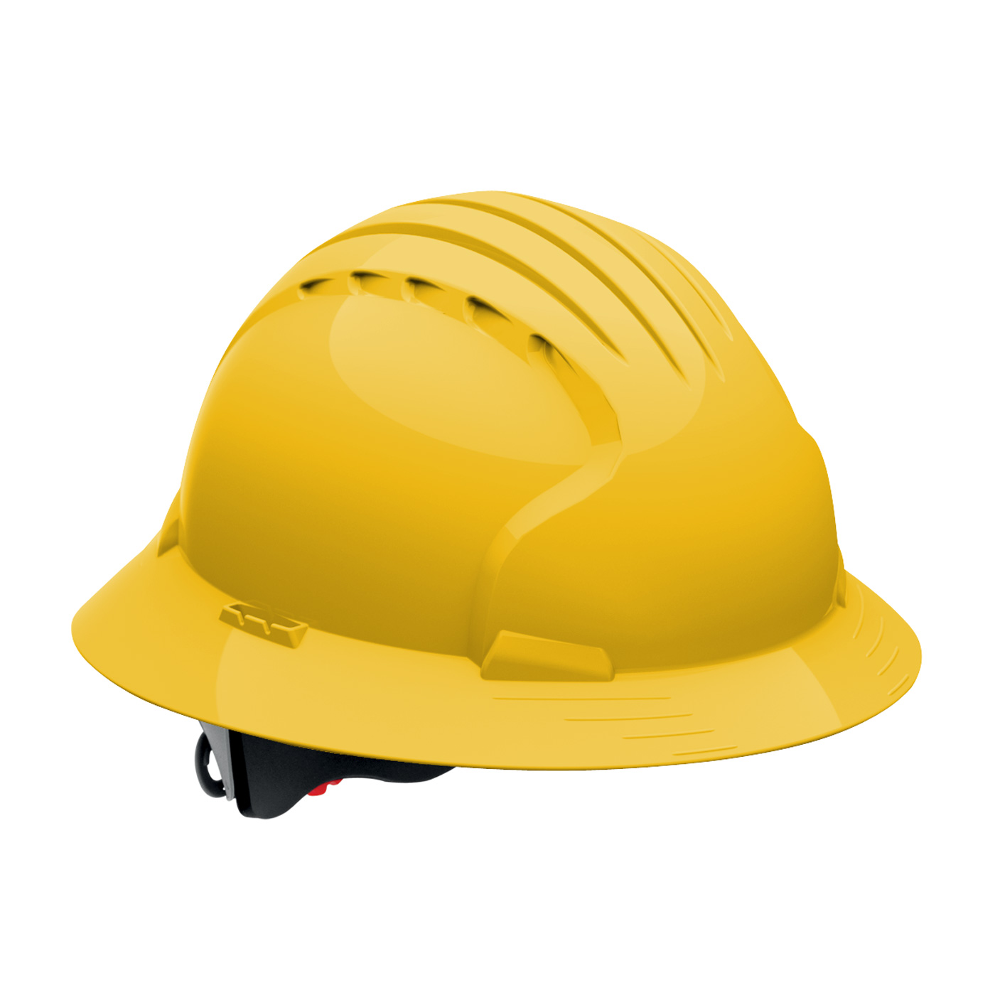 JSP Evolution Deluxe Full Brim Hard Hat-Yellow