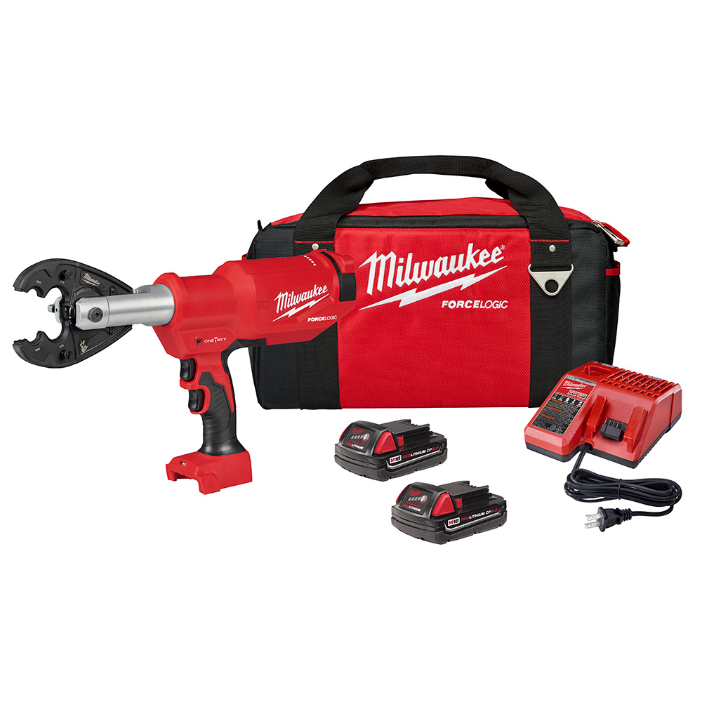 Milwaukee M18 FORCE LOGIC 6T Pistol Utility Crimper BG Kit