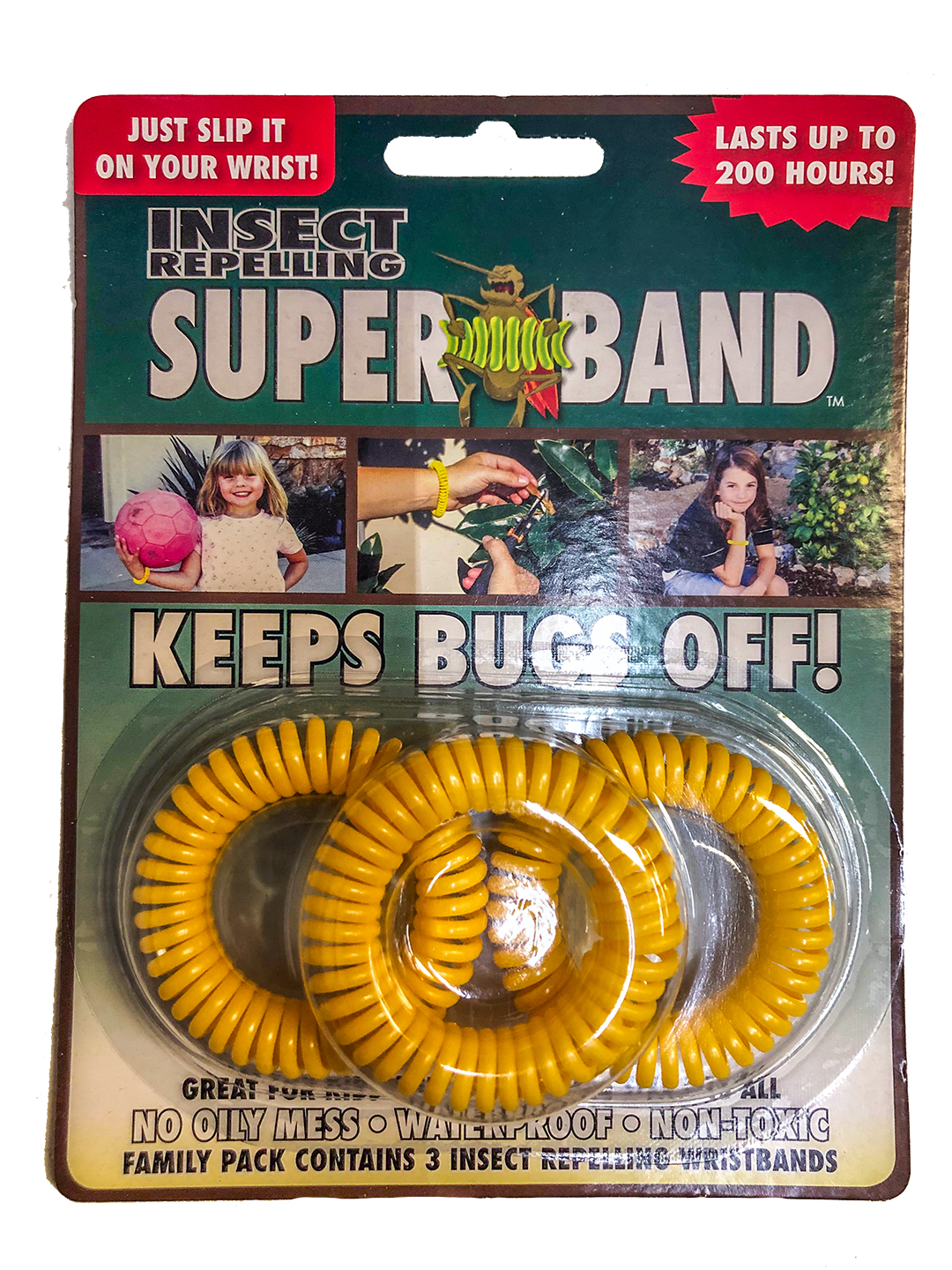 Superband Bug Repelling Band 3 Pack Clip Strip Wear on Ankle or Wrist