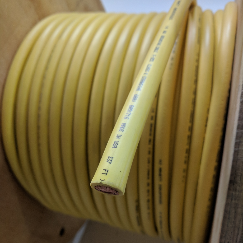 CABLE, GROUNDING 2/0 YELLOW