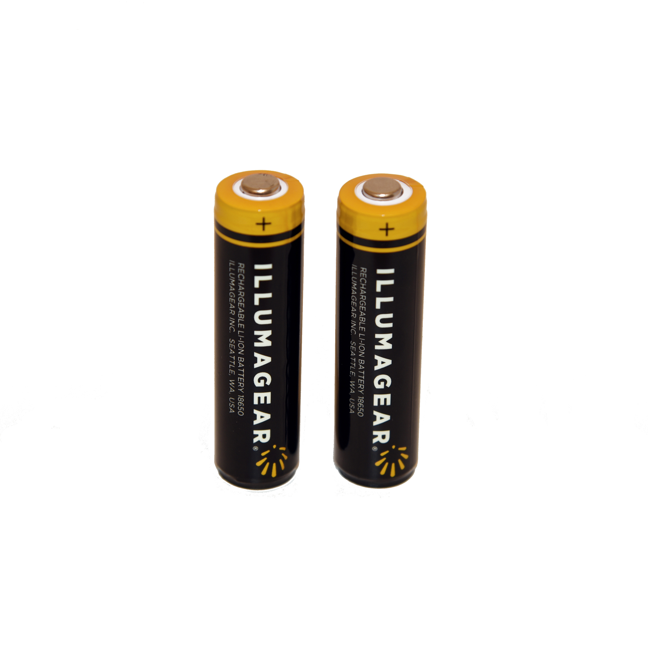 18650 Lithium Ion Rechargeable Batteries, 2-pack
