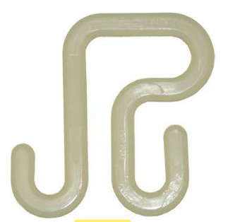 "Hastings Plastic Hooks for Aerial Bucket 5/8"" Diameter with a 3 1/8"" Opening for Large Lip Buckets"