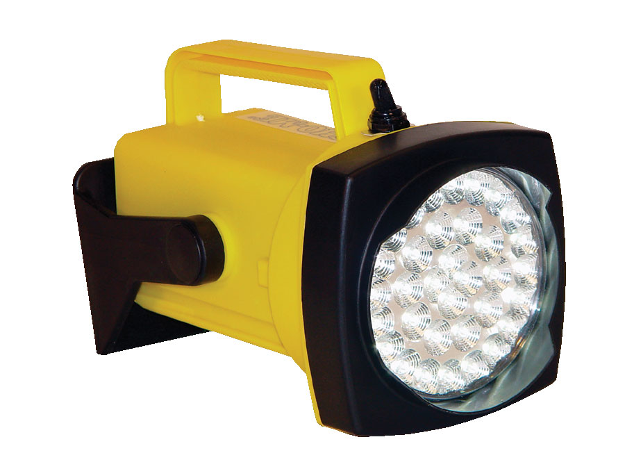 *Sho-Me LED Flood Rechargeable Light Yellow, Comes with DC Plug-In Charger