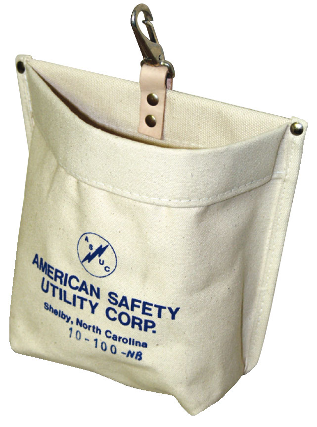 American Safety Quick Release Snap Nut and Bolt Bag Canvas Bag