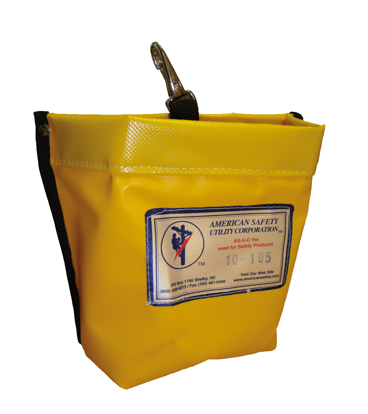 American Safety Quick Release Snap Nut and Bolt Bag Yellow Vinyl Bag