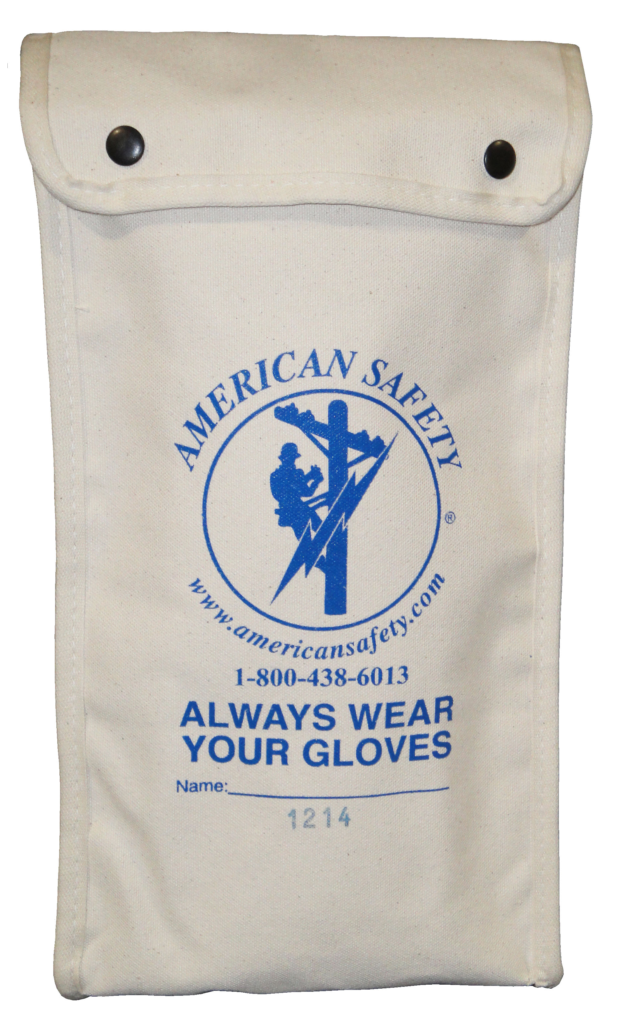 "Standard Glove Bags For 14"" rubber gloves, Canvas"