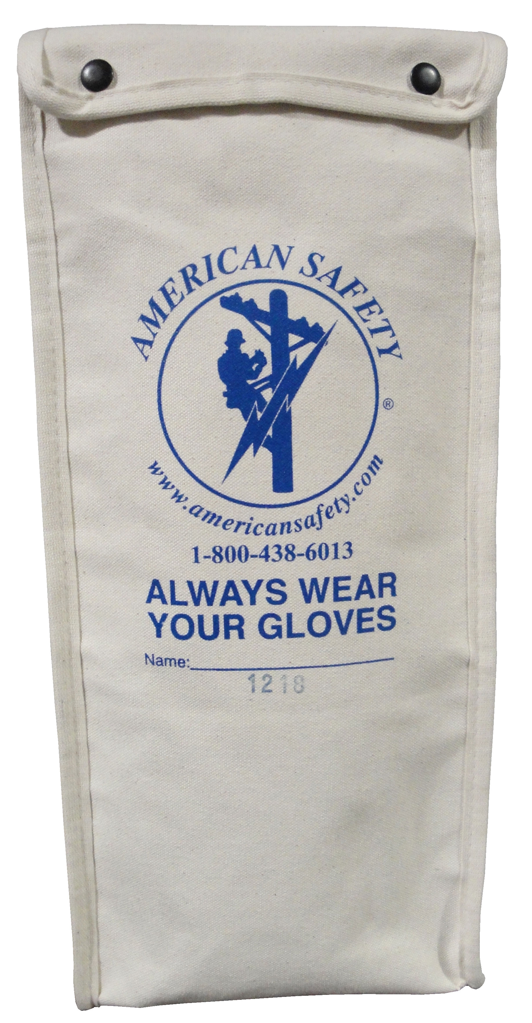 "American Safety Standard Glove Bags For 18"" rubber gloves, Canvas"