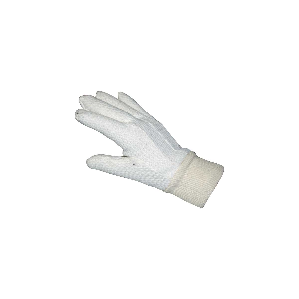 American Safety Thermal Weave Glove Liner - White weave with knit wrist, Excellent liner for Rubber Gloves.