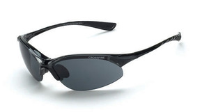 ~Crossfire Cobra Safety Glasses - Smoke Lens, Crystal Black Frame.