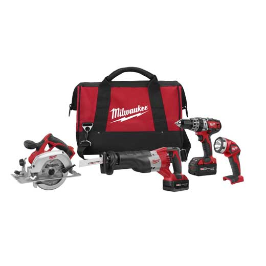 Milwaukee M18™ Cordless LITHIUM-ION 4-Tool Combo Kit