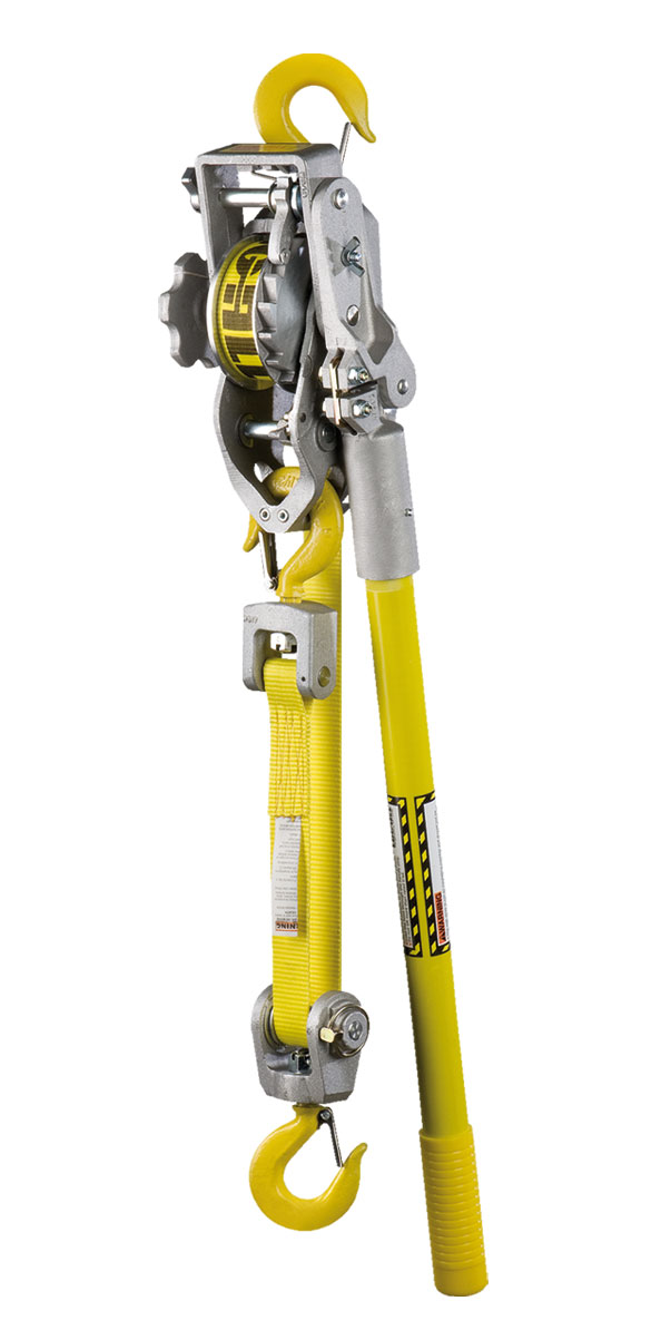 Lug-All Strap Hoists 1-ton Capacity; Small Frame Standard Latching Hook