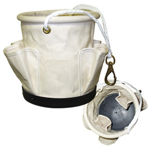 Telephone Service Bucket White Canvas