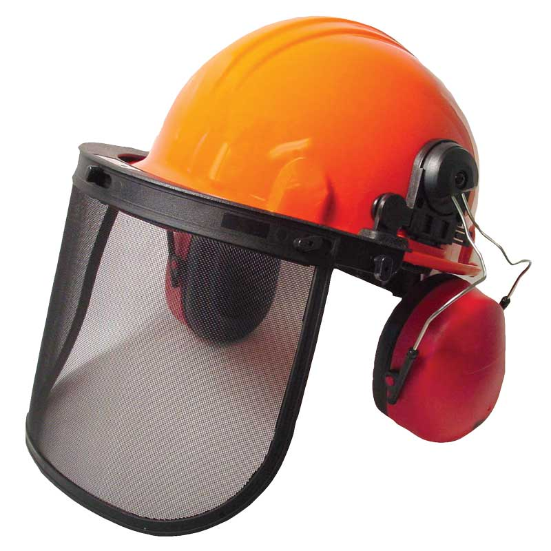 Radians Hard Hat Org/Ratchet/Visor/Muff