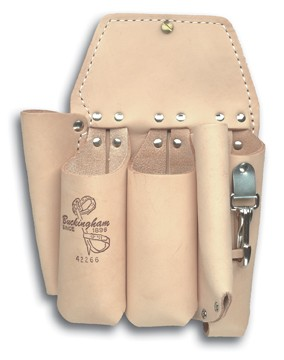 BUCKINGHAM HOLSTER TOOL 5 POCKET BROWN