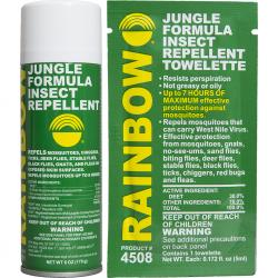 Rainbow Jungle Formula Repellent Box of 50 towelettes