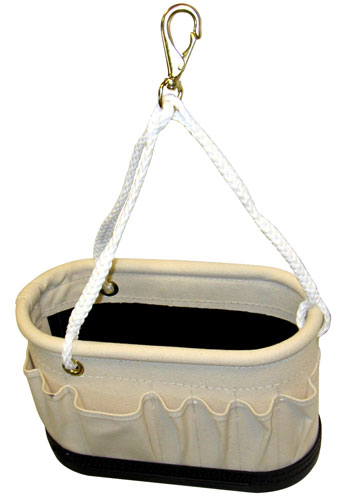 American Safety 14 Pocket Tri-Rope Snap Assembly Blackwrap Bucket w/ Outside Pockets