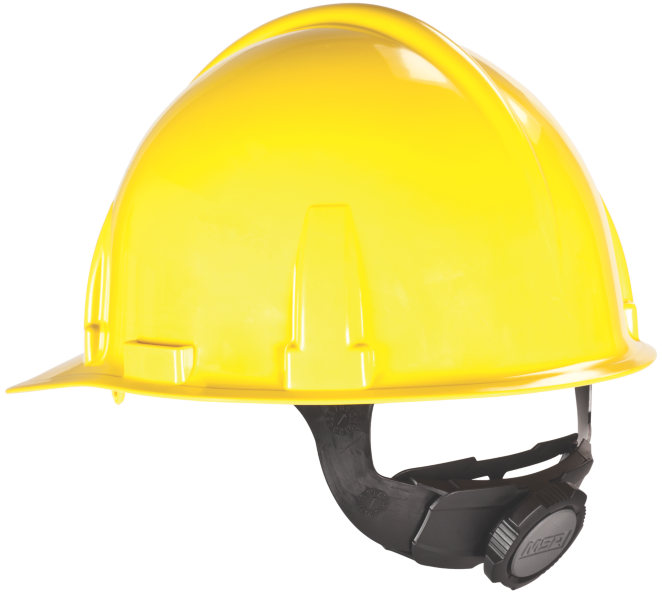 MSA Topgard Cap (slotted), Yellow, Standard Suspension