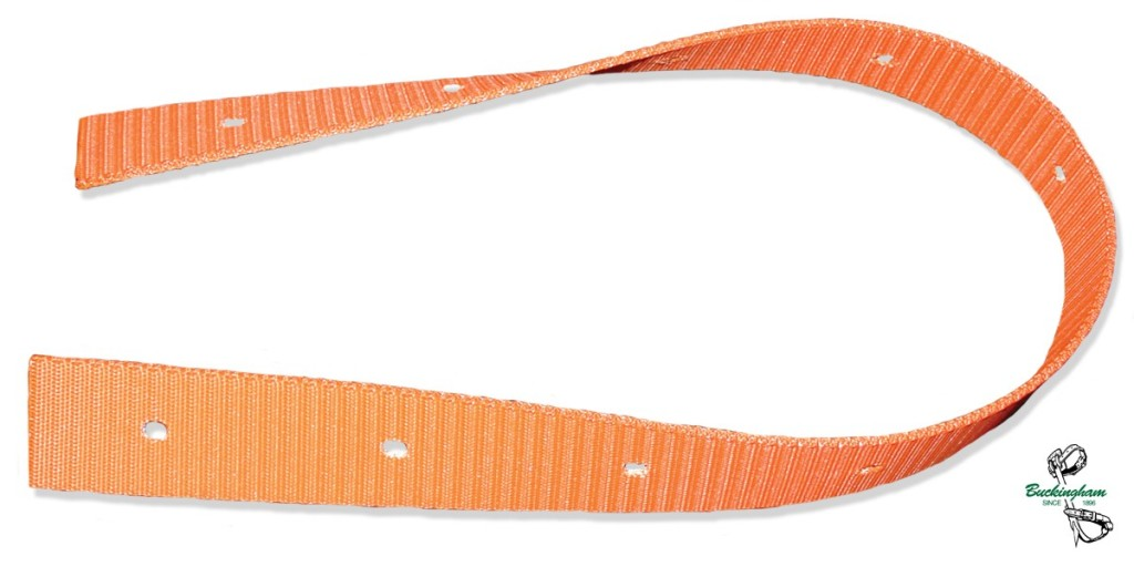 Buckingham 50' of Orange Webbing with Punched Holes ( for pole top rescue)