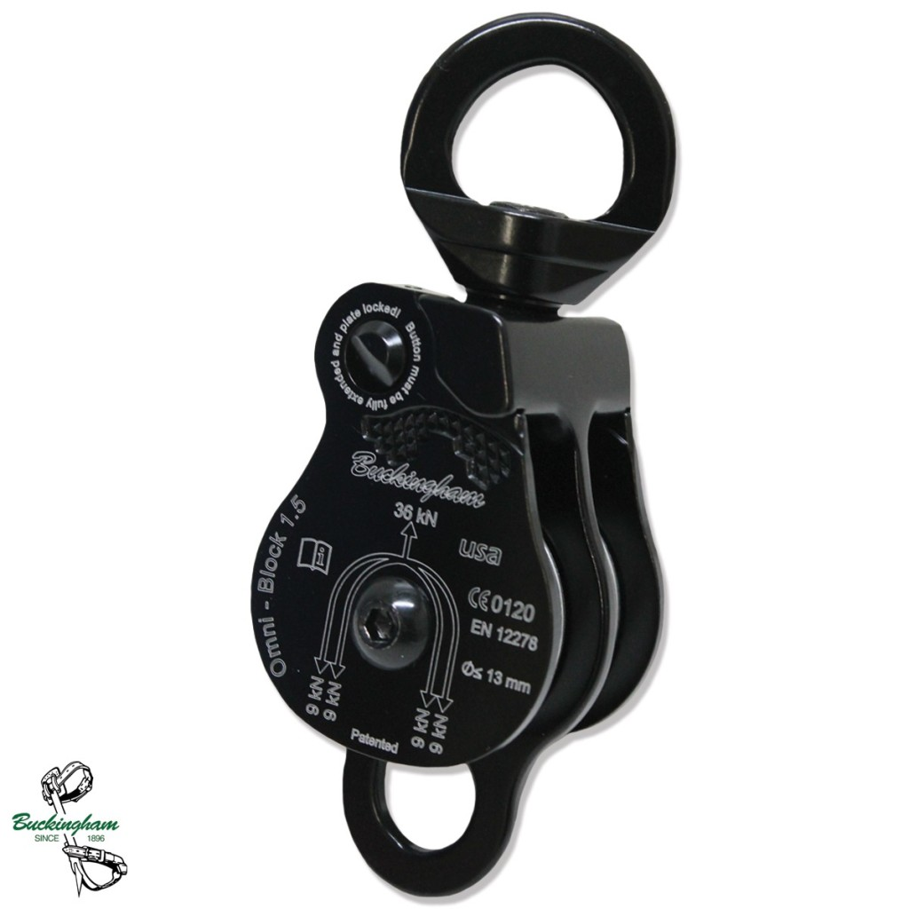 BUCKINGHAM OX-BLOCK DOUBLE SHEAVE PULLEY