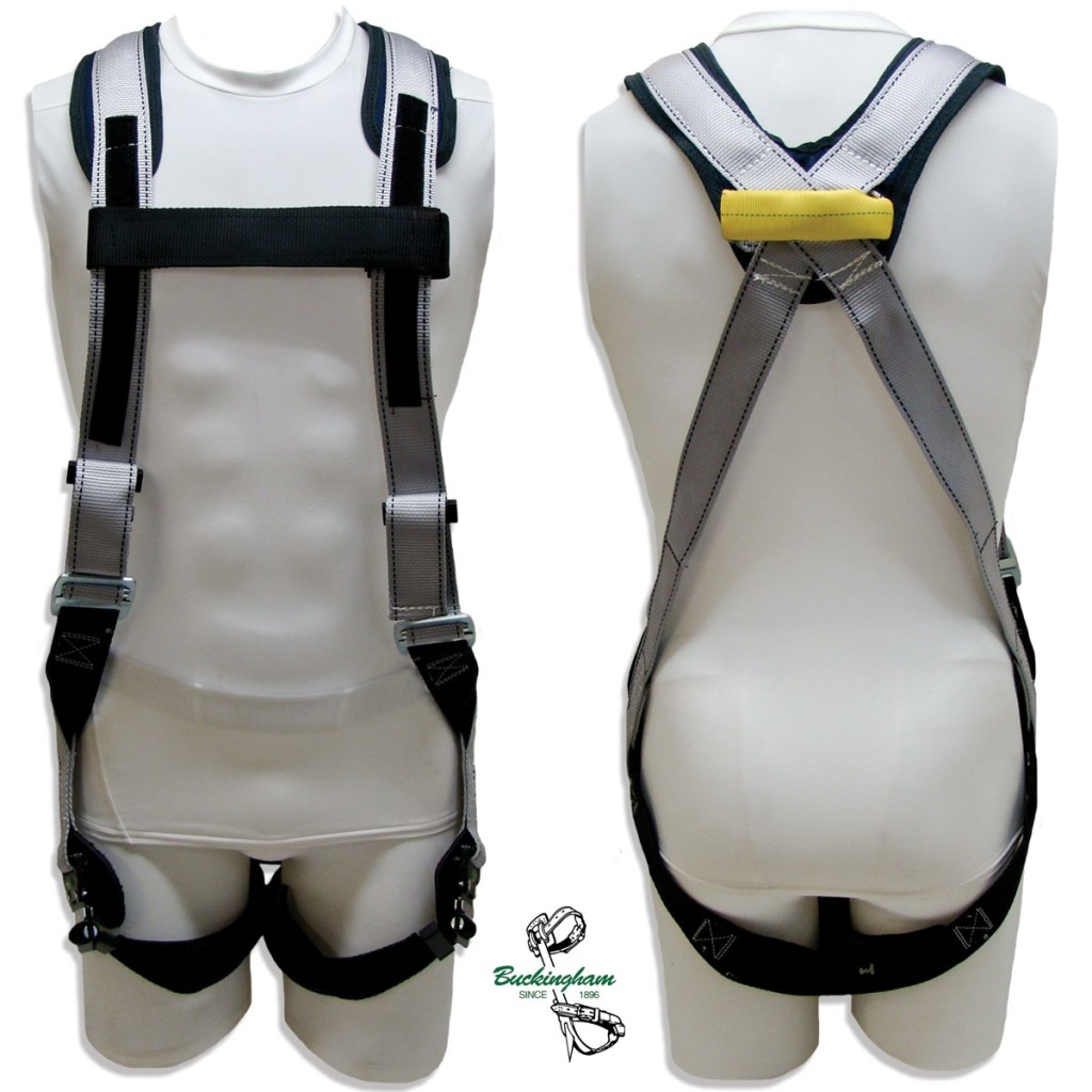 BUCKINGHAM BUCKFIT ARC FLASH HARNESS WITH VELCRO ON CHEST AND NYLON LOOP ON BACK