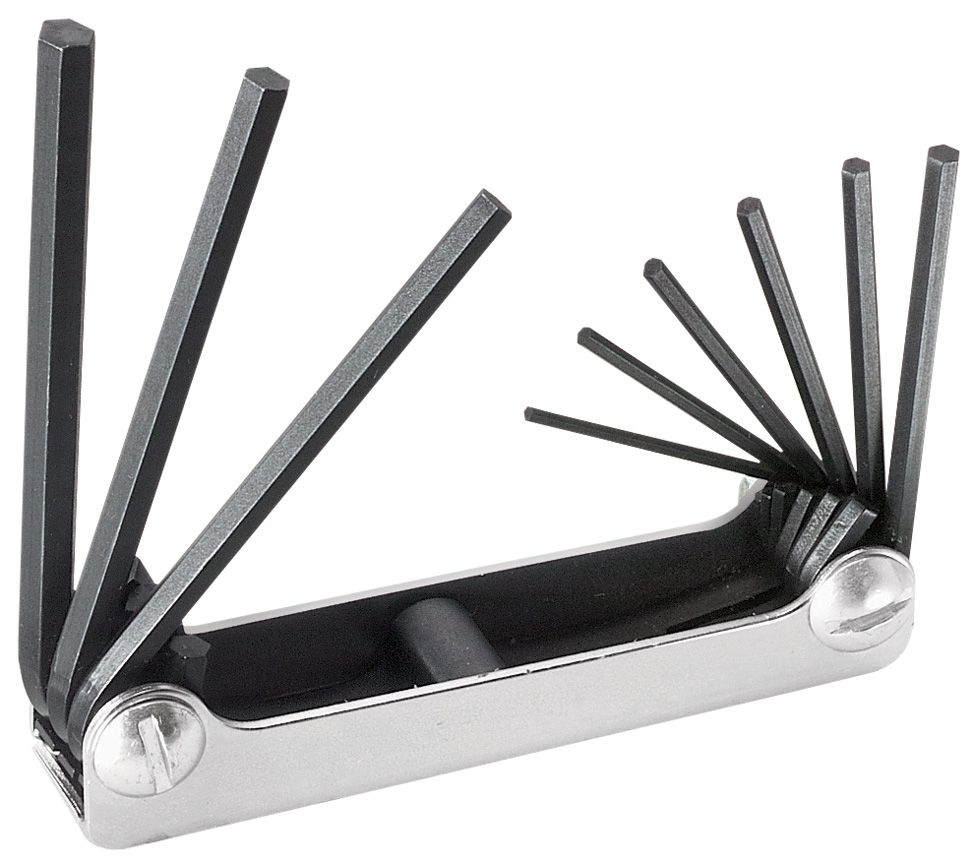 Klein Nine-Key Inch Folding Hex-Key Set