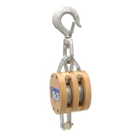 Campbell Regular Wood Shell Blocks for Manilla Rope - Double Block