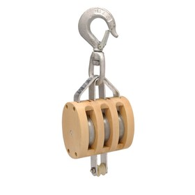 Campbell Regular Wood Shell Blocks for Manilla Rope Triple Block