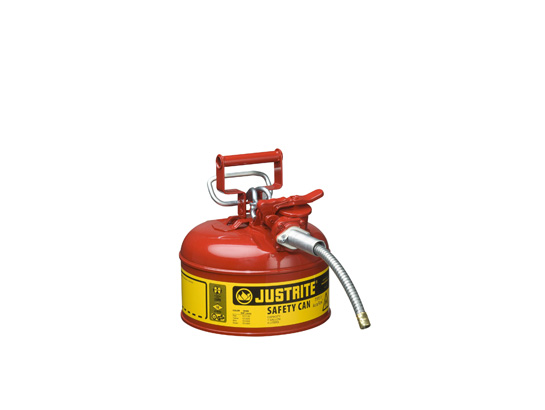 Type II AccuFlow™ Steel Safety Can for flammables, 1 gal., S/S flame arrester, 5/8