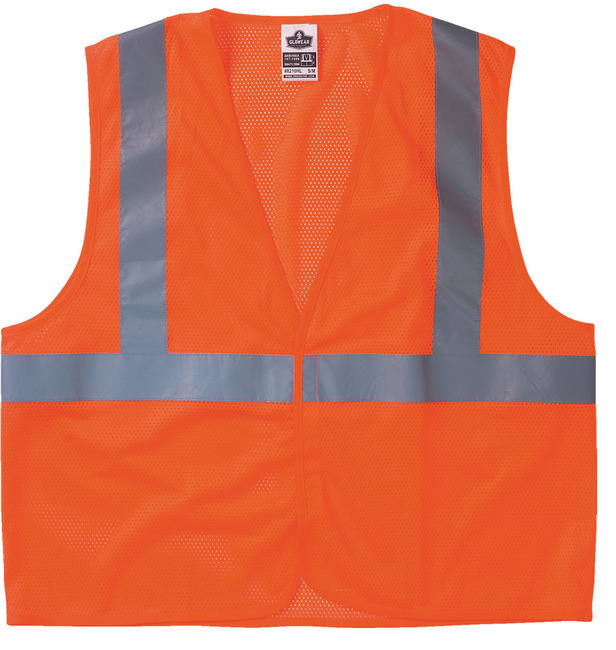 Ergodyne GloWear Class 2 Economy Vest - S/M, Orange