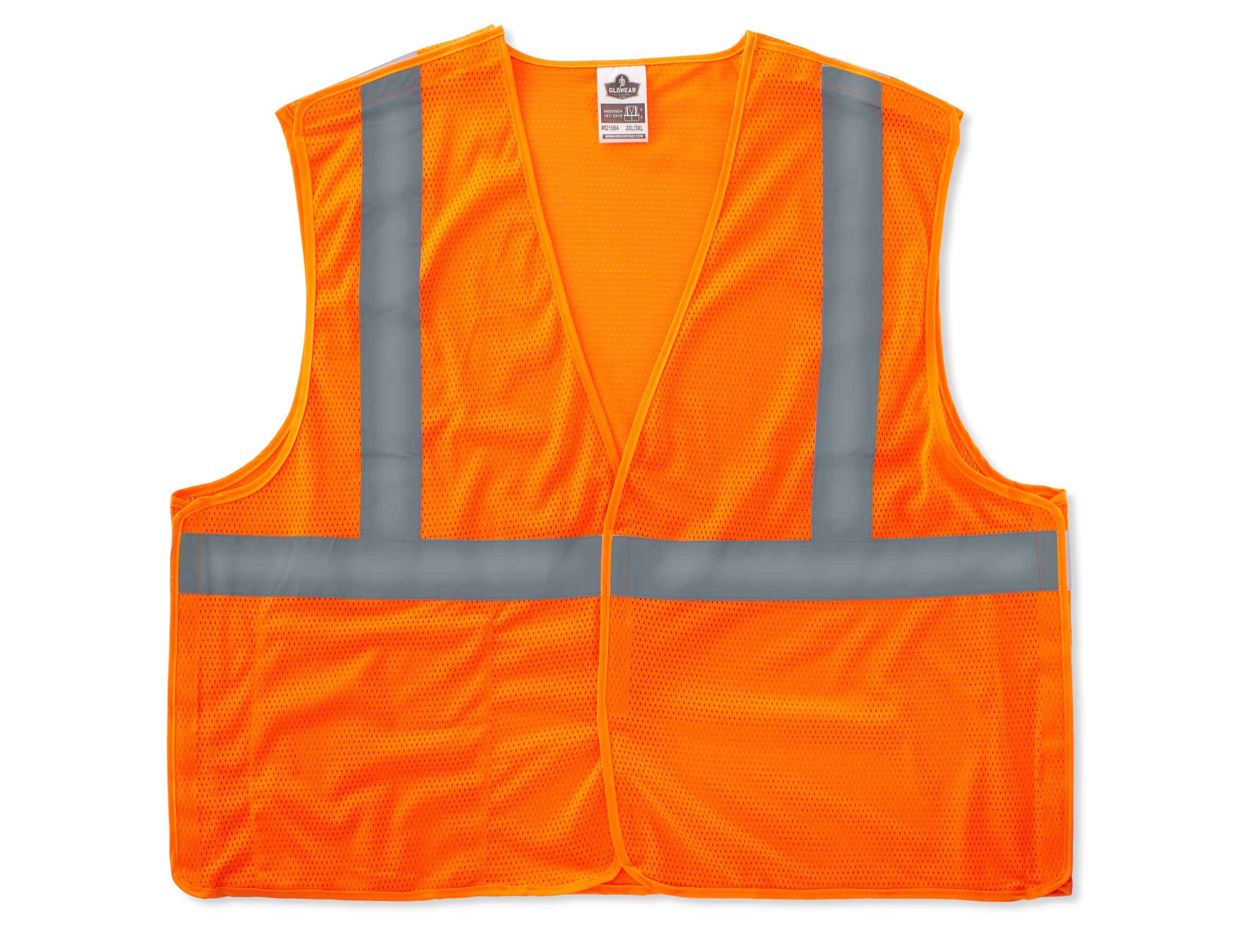 Ergodyne Breakway Vest- Class 2, Orange, 4XL/5XL