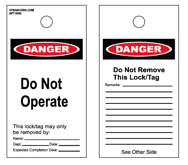 Lockout & Accident Prevention Tags Pack of 25, OSHA Do Not Operate