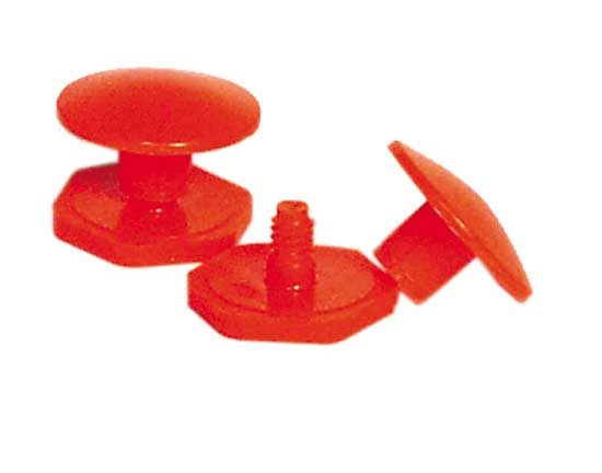 Salisbury Orange Two Piece Sleeve Buttons - Screw Type - 4 Per Package