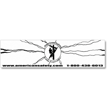 ASUC BUMPER STICKER WHITE BACKGROUND/BLACK GRAPHIC