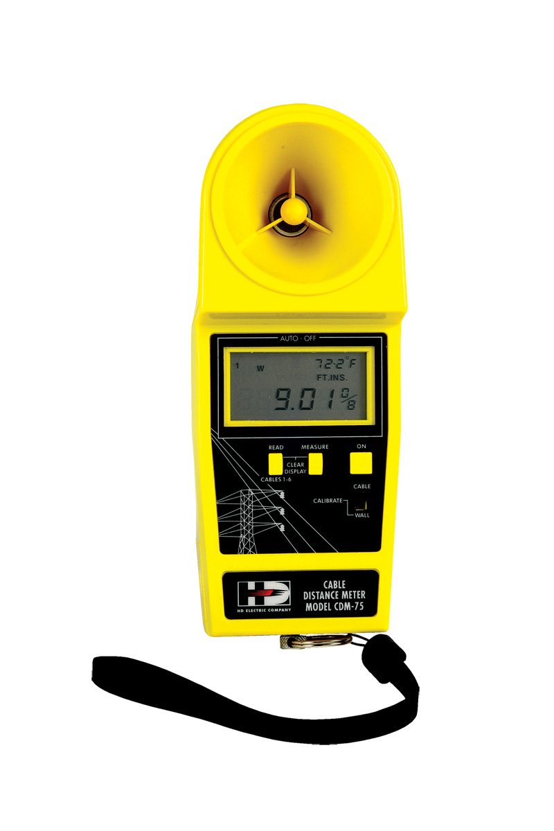 Cable Distance Meter Measures up to 6 Wires, 75' Range with B-20 Bag
