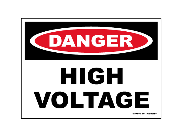 Safety Signs - Classic OSHA Header Signs - Danger - Vinyl, 7