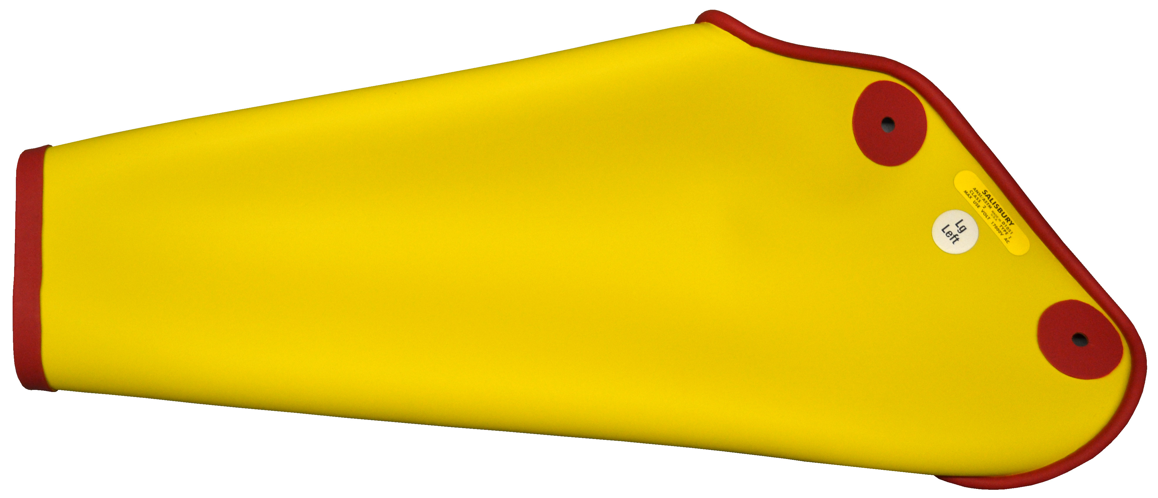 Salisbury Sleeves - Dipped - 20kV, Large, Red Inside, Yellow Outside, Straight Cuff