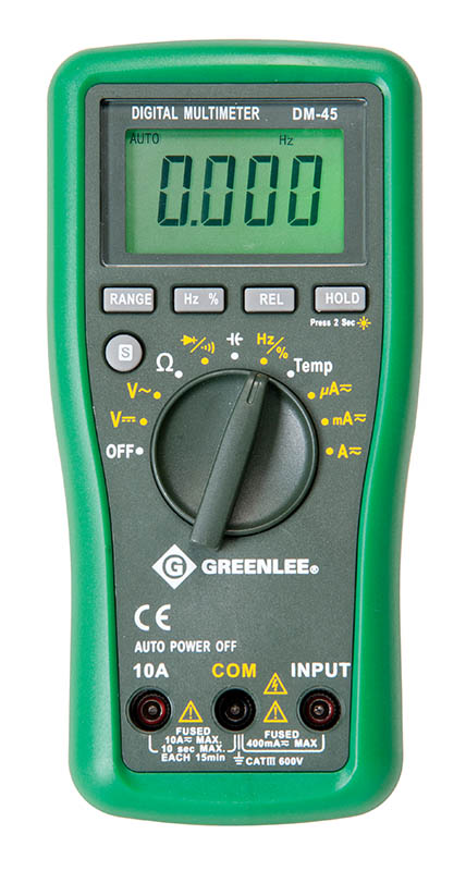 Greenlee Auto Ranging Multimeter