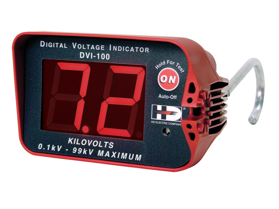 HD Electric DVI-100 (Digital Voltage Indicator) Indicates Voltage up to 99kV, Includes HP-DVI-2 and CS-DVI Case