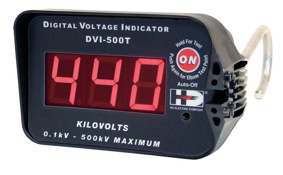 HD Electric DVI-500 (Digital Voltage Indicators) with capacitive test mode Kit Includes DVI-500, HP-DVI-2, HP-DVI-6, IEP-DVI-5