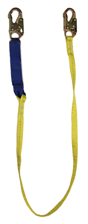 SafeWaze V-line 6' Shock Lanyard w/ Double-Locking Snap Hooks