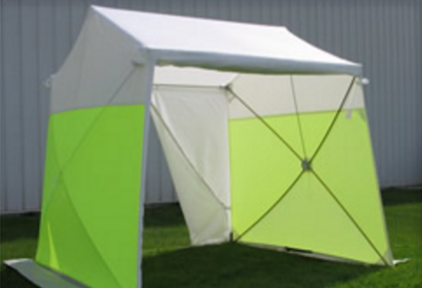 GROUND TENT 8' DEEP X 8' WIDE WITH SLIT DOOR WITH ZIPPER