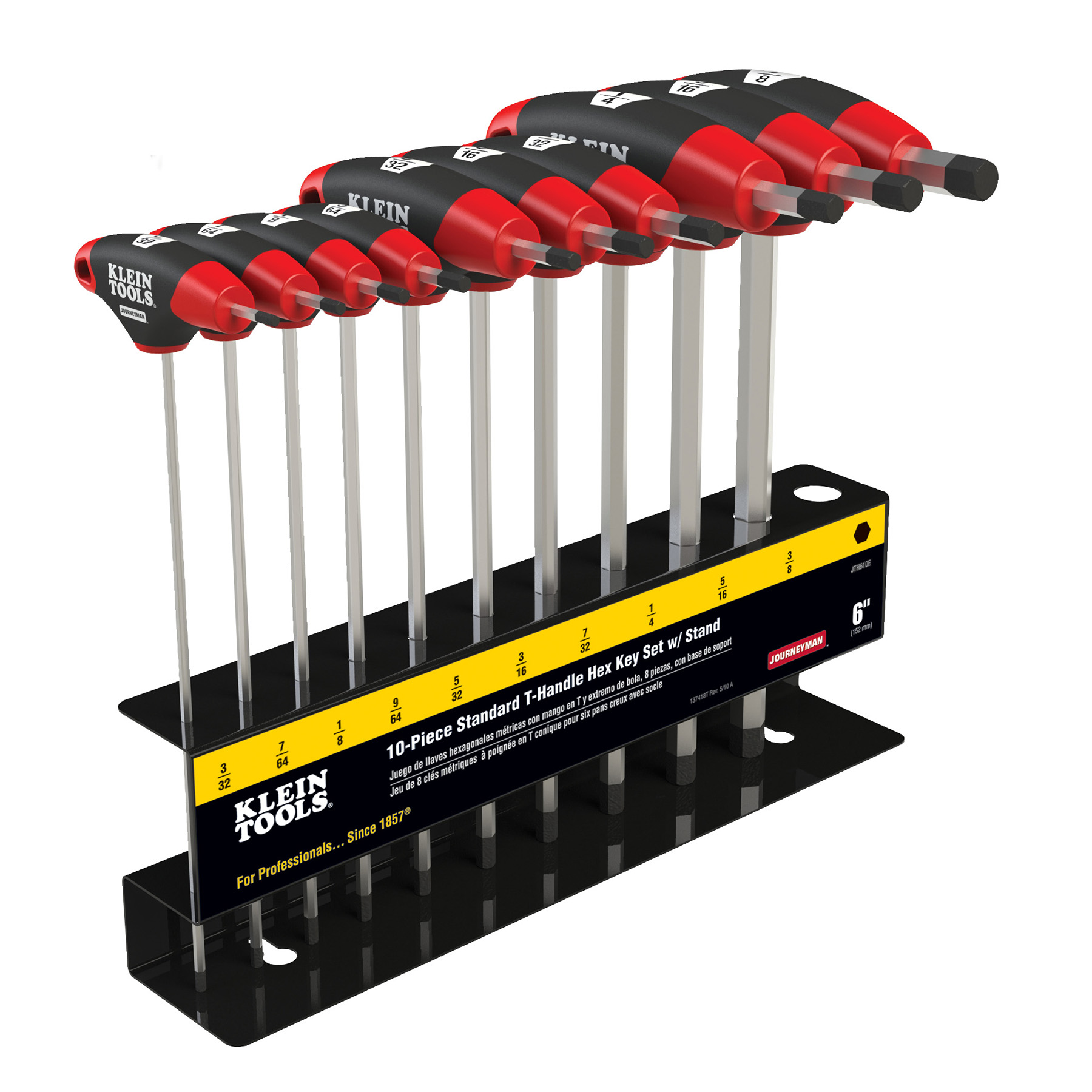 KLEIN 10 PC SAE JOURNEYMAN T-HANDLE SET WITH STAND