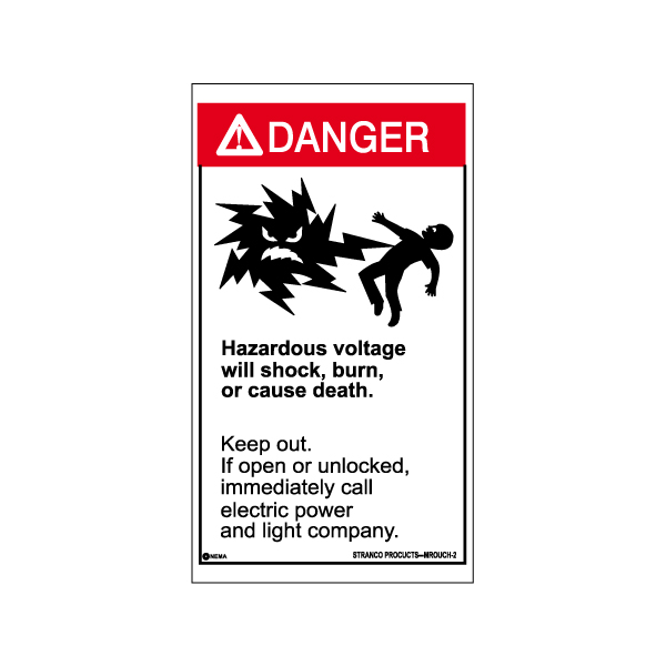 Mr. Ouch Transformer Safety Labels English, DANGER pk/10 VINYL
