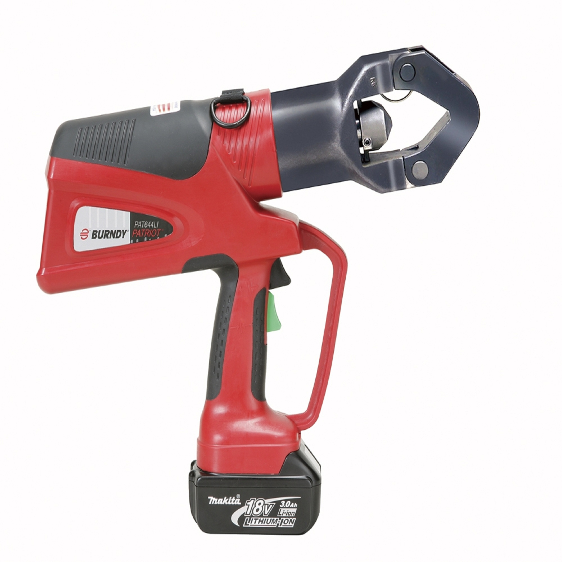 Burndy Battery Actuated Crimping Tool, Hydraulic Self Contained, 11 Ton Output Force, 6 AWG-1000 kcmil Copper, 6 AWG-750 kcmil A