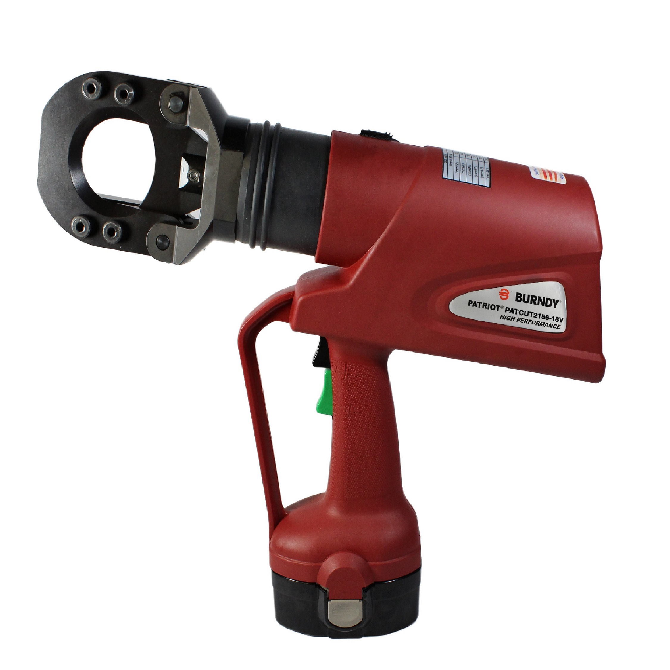 Burndy Hydraulic Self Contained Battery Actuated tool 18V  Cutter with 120V Charger, 16.52