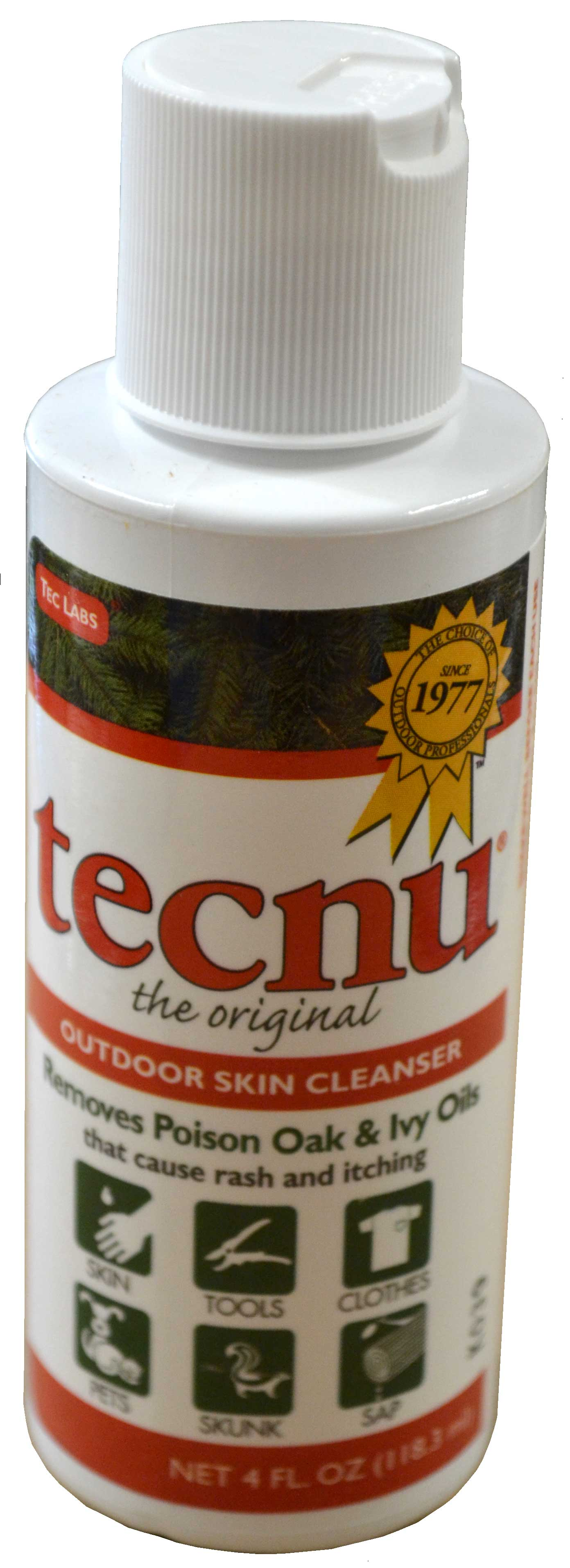 Tecnu Oak-N-Ivy Brand Outdoor Skin Cleanser 4 oz. Bottle