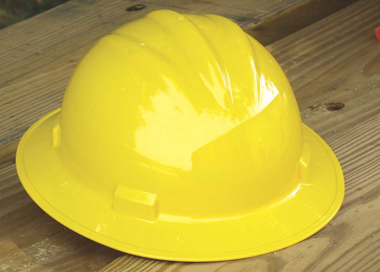 Bullard Full-Brim Hard Hat 4-point Suspension Yellow, Self-Sizing System (71YLP)