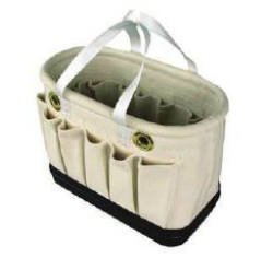 Oval Tool Bucket, Blackwrap