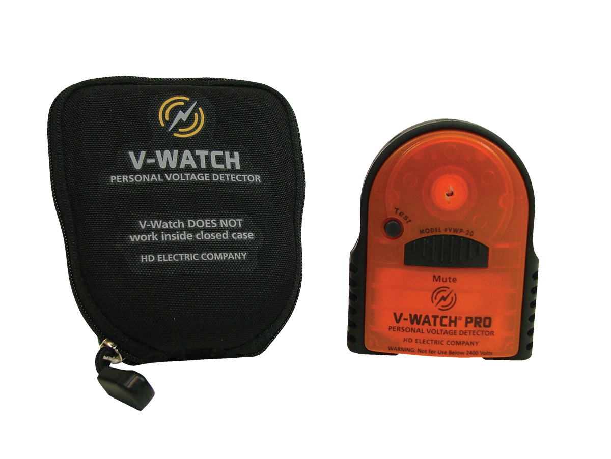 V-Watch Pro Personal Voltage Detector with Mute Button and C-10 Carrying Case Lanyard